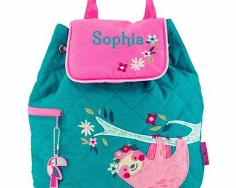Personalized Bag Personalised Child/'s Mini Backpack Rucksack Sloth nursery school