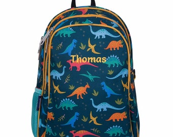 Any Name Gift PERSONALISED JURASSIC DINOS BACKPACK BAG