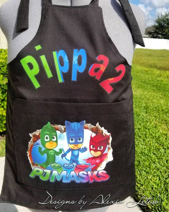 Personalized Kid/'s Apron  Disney-inspired PJ Masks Apron  Master Chef Apron  Kid/'s Apron  Apron   Cooking Apron  Free Shipping Gift