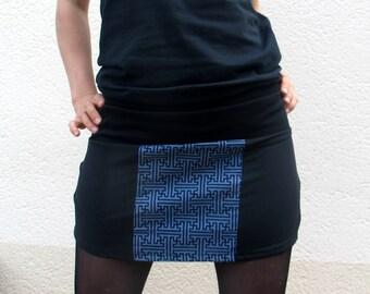 Skirt Sayagata Dark Blue S-M.