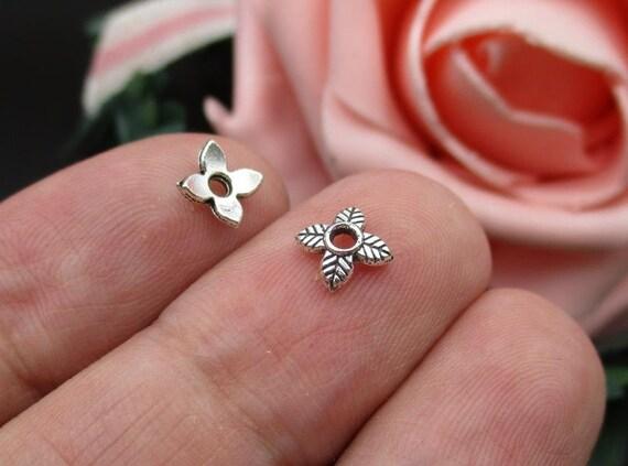 20pcs Rose Gold Brass Flower Bead Caps Nickel Free More-Petal Findings 13x5mm