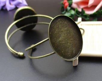 30x40mm Oval Bronze Bangle Base Bracelet,Bangle Blank-B2215