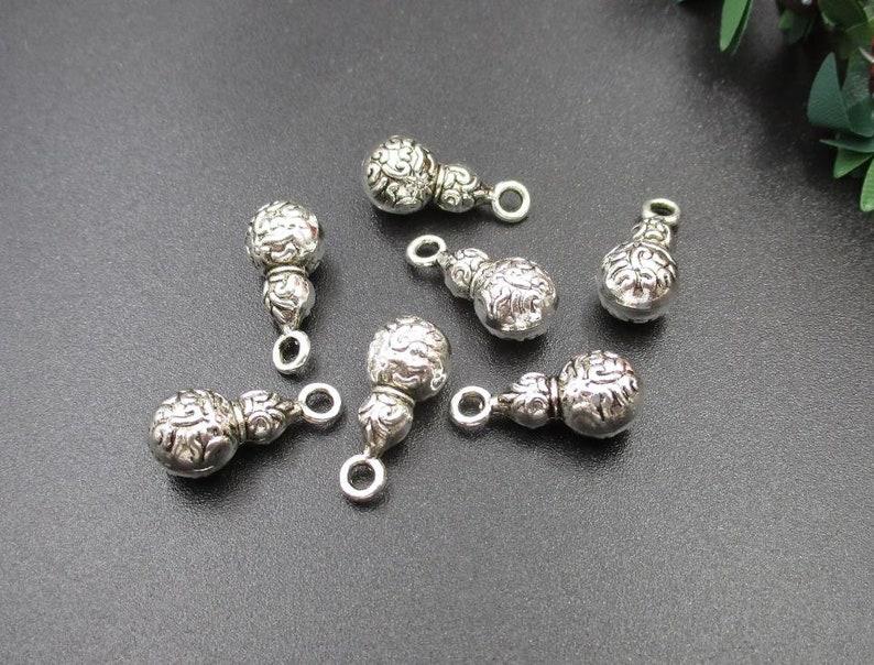10Pcs 17x8x8mm Silver Gourd Charms-p2027-B