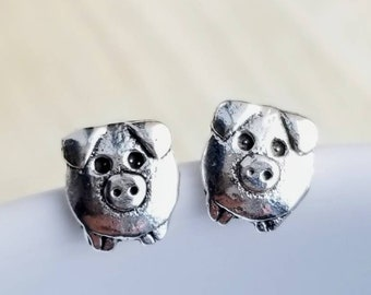eeb9e0d83 Pig Stud Earrings | Pig Stud | Silver Pig Earrings | Pig Jewelry | Farm  Animal Stud | Farm Animal Jewelry | Gift Her | Mothers Day Gift