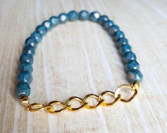 Turquoise Bead Bracelet Boho Beaded Bracelet Boho Jewelry Hippie Jewelry Bohemian Jewelry Everyday Bracelet Statement Bracelet
