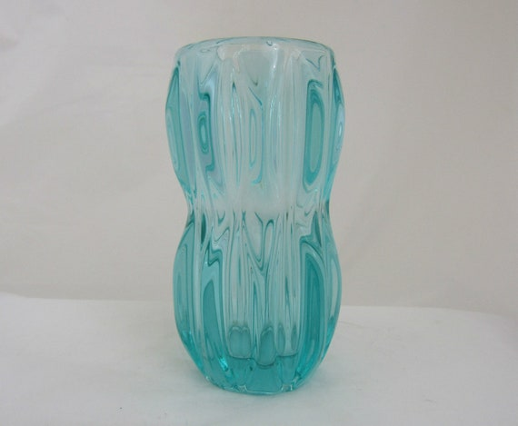 Rosice Glass Vase In Turquoise Glass Design 1032 By Jan Schmid Etsy