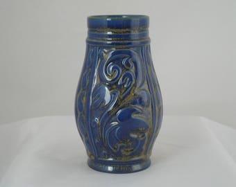 Sylvac vase in cobalt blue Art deco style vase dating from the 1960s Sylvac vase pattern 5051 Retro flower vase