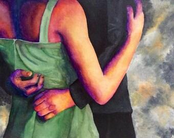 Lovers Dancing Painting
