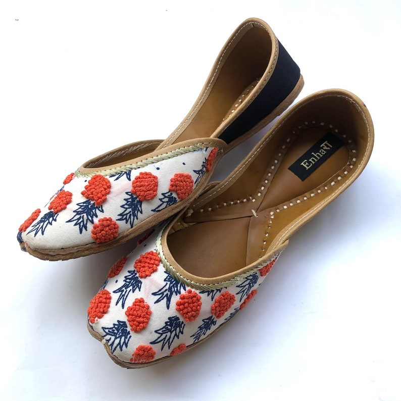 d281f169d The Orange Ananas Womens Pineapple Flat Shoes Navy Blue | Etsy