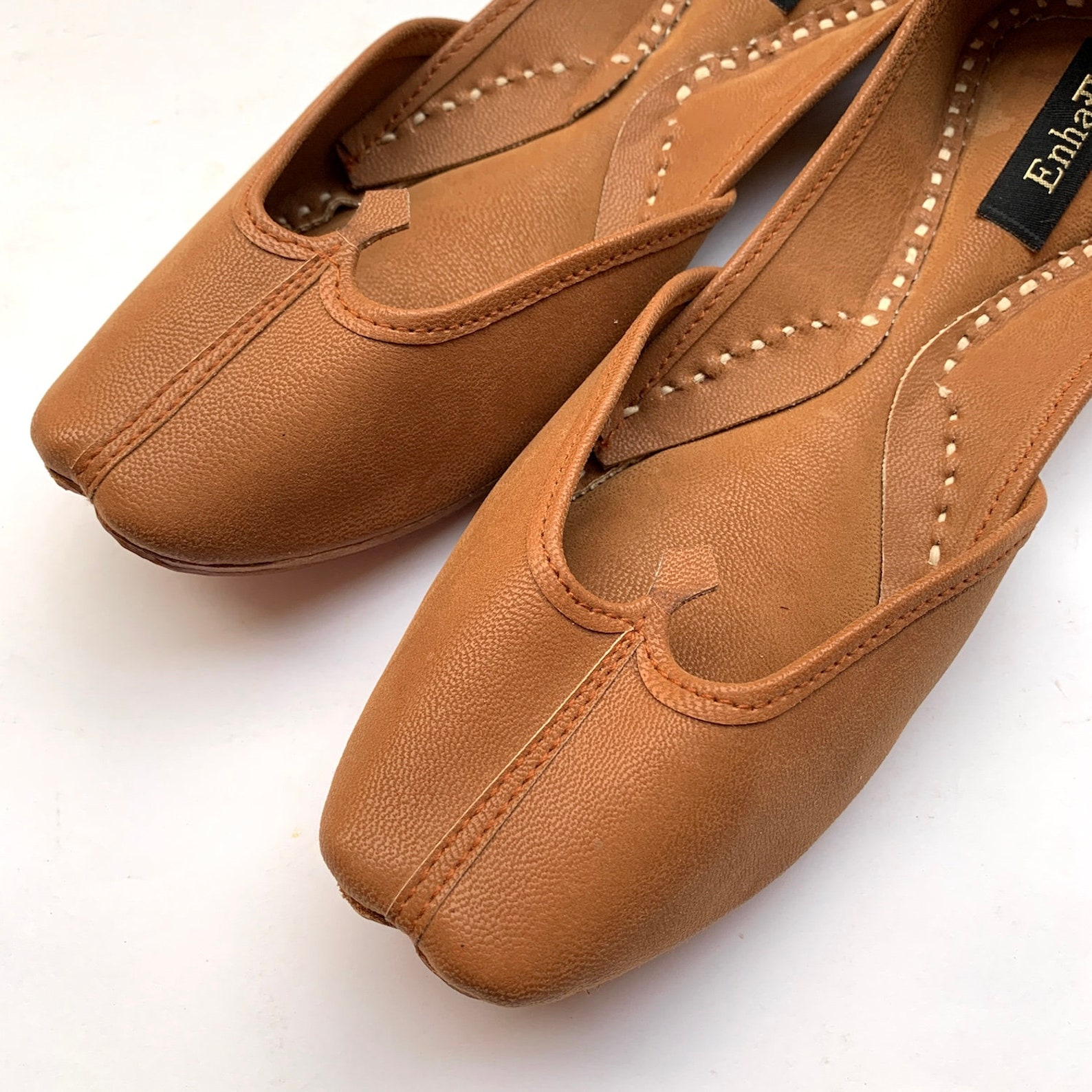 womens tan ballet flat shoes, slip on shoes, indian shoes, handmade designer shoes/juttis or mojaris