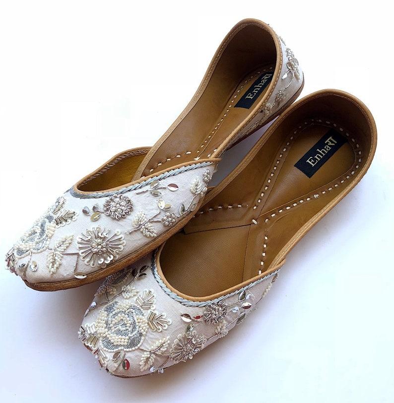 abb278d3f437 The White Bloom White Wedding Shoes Silver White Bridal