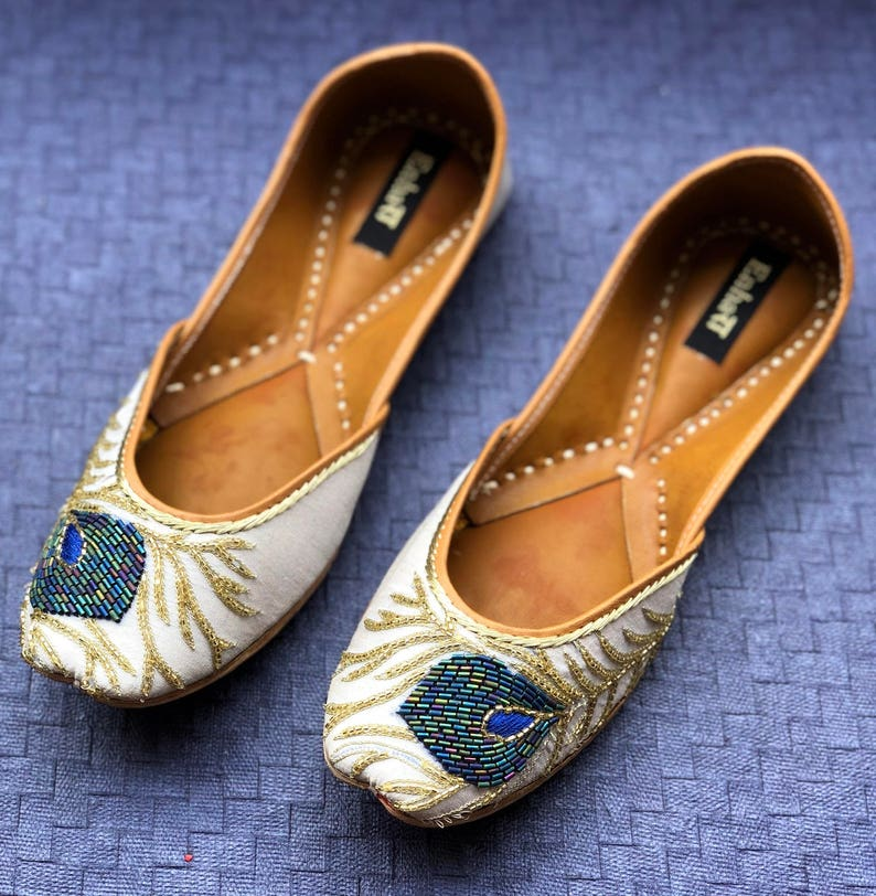 3e148c214de The Dancing Peacock Shoes by Enhara Bridal Shoes Off White
