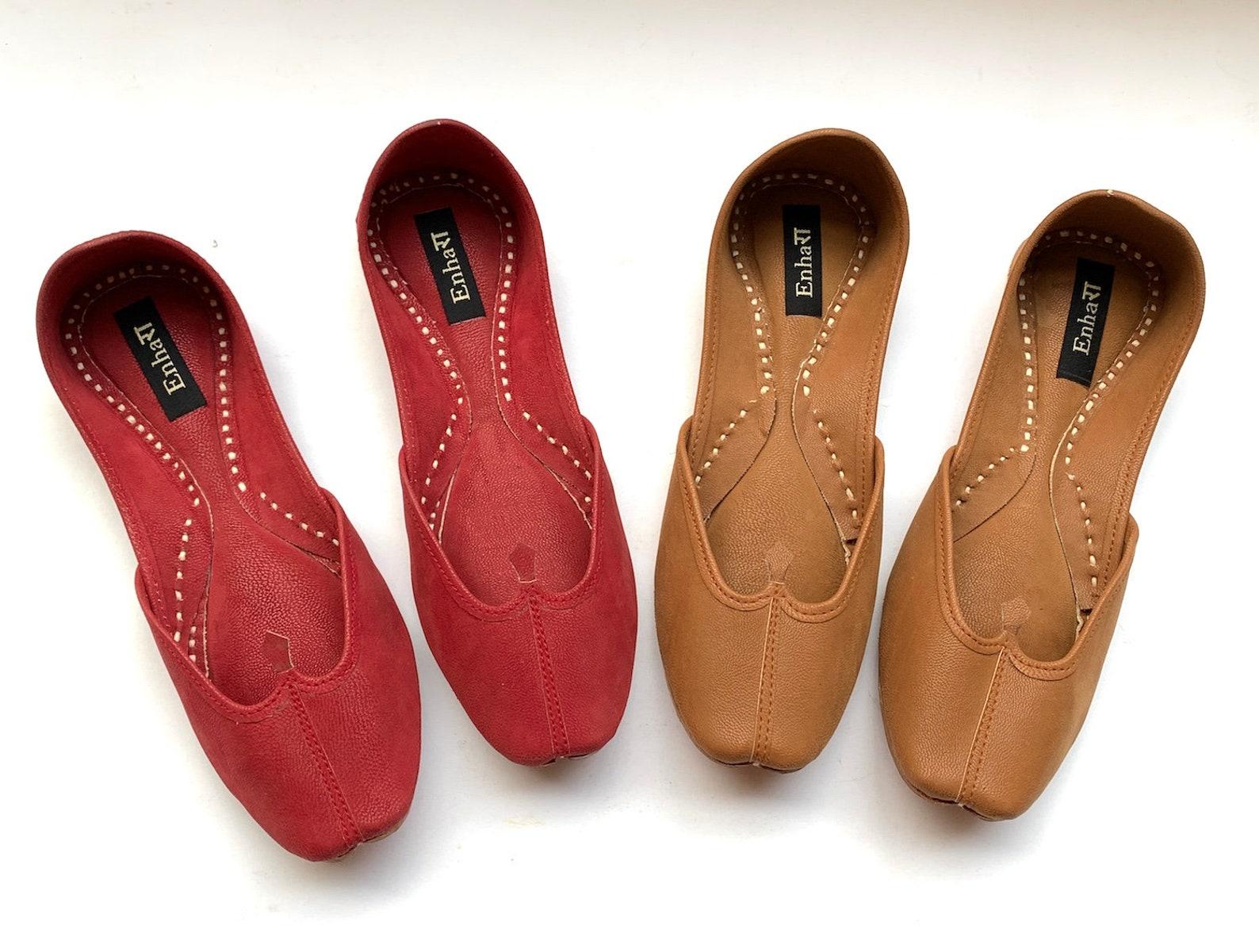 womens tan ballet flat shoes, slip on shoes, indian shoes, handmade designer shoes/juttis or mojaris