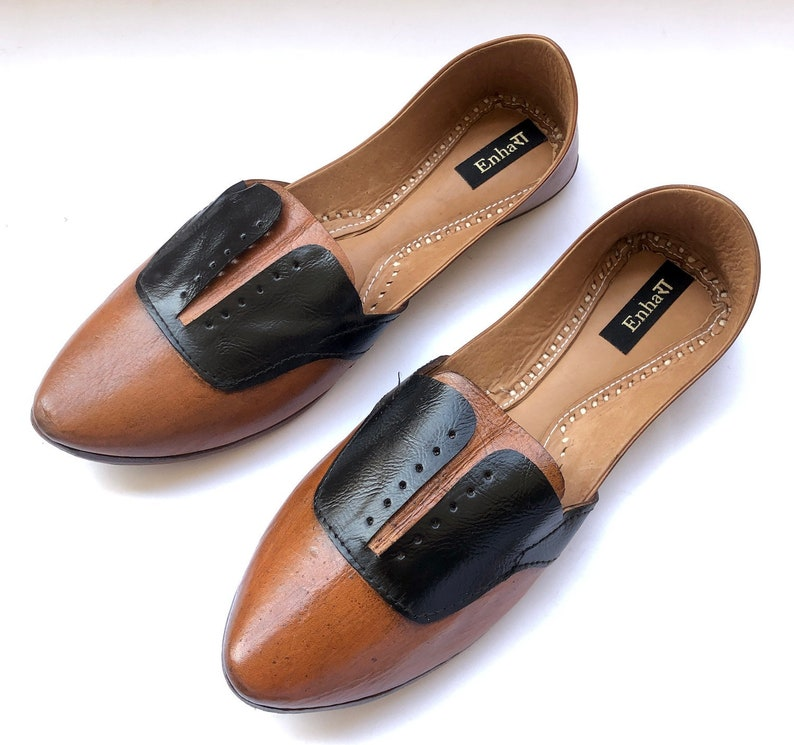 09e1b7ea92f0 Mens Oxford Style Black and Brown Ethnic Leather ShoesMens