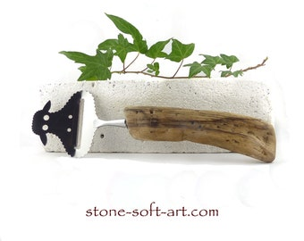 Free Shipping! CHEESE CUTTER Slicer 'Sheep Suzie' DRIFTWOOD handle cutlery, rustic kitchen foodie accessory, wooden upcycled mens wine gift