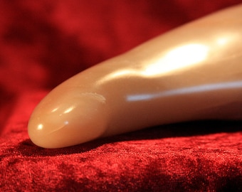 JANE - HANDCARVED Stone DILDO one-of-a-kind stone wand adult sex toy made of steatite, mature toy yoni massage wand erotic Bdsm master gift