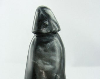 TOM STONE DILDO one-of-a-kind Stand-up handcarved butt plug mature Bdsm sex toy made of steatite, adult sex sculpture erotic art object gift