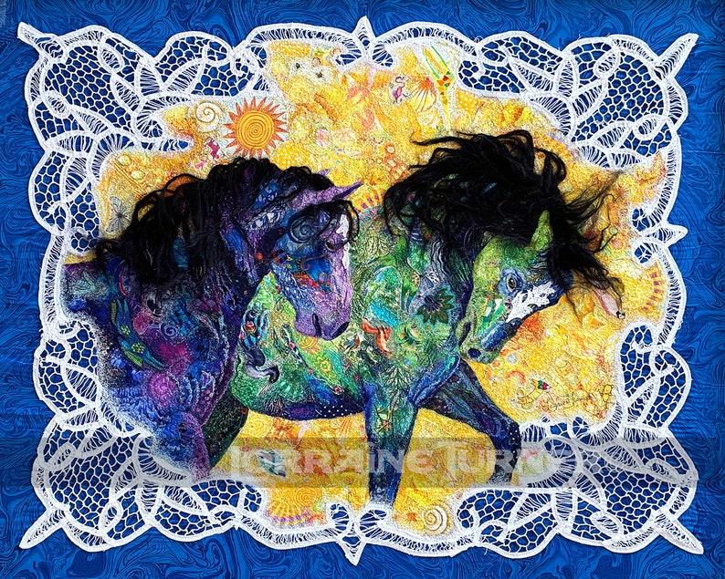Wild Stallions Giclée image 0
