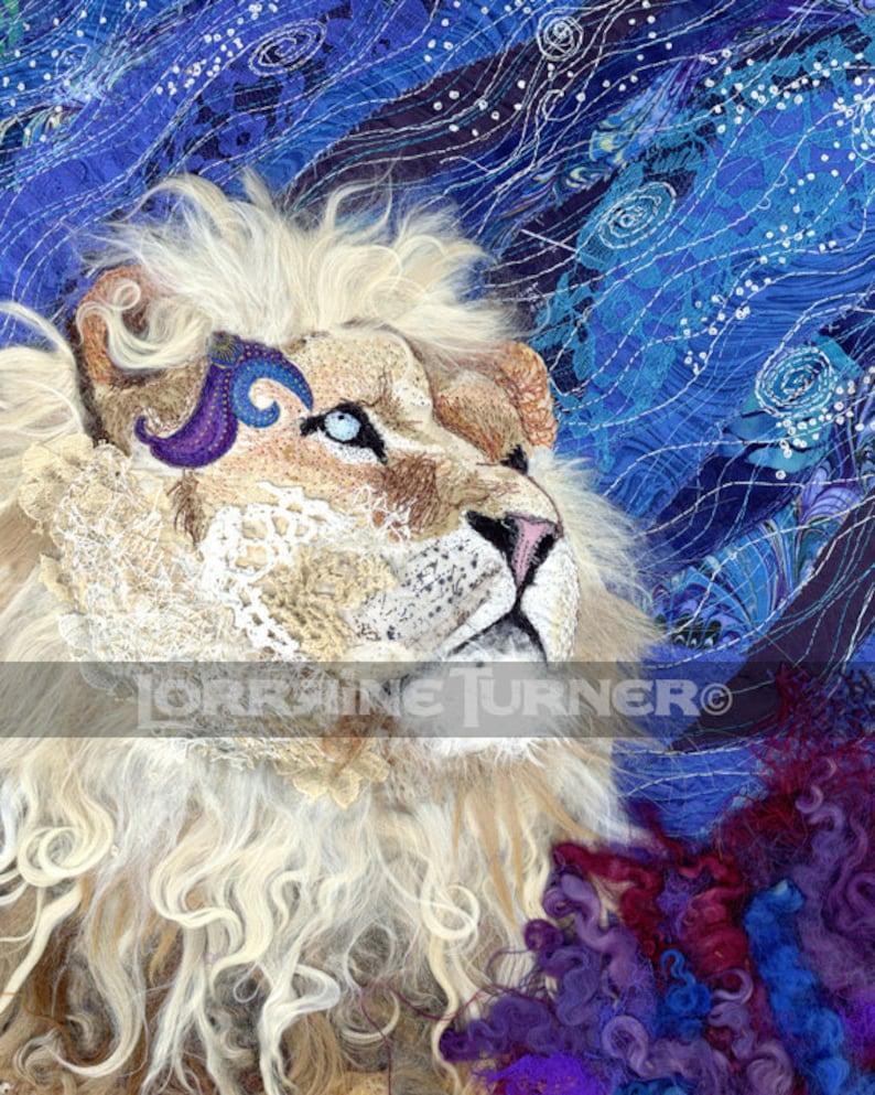 White Lion Wishing on a Star Giclée image 0