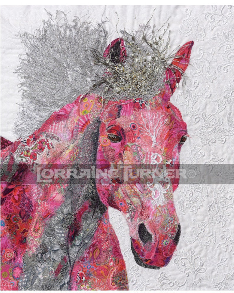 Galloping Wild Horse with Lace Giclée image 0