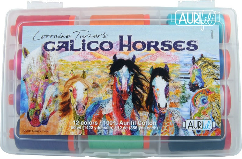Aurifil Thread Calico Horses Lorraine Turner image 0