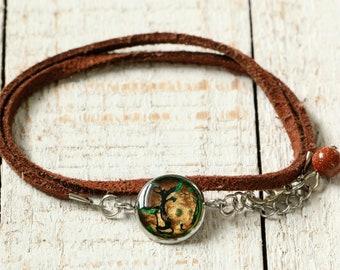 Handpainted Bracelet with multiple ranks