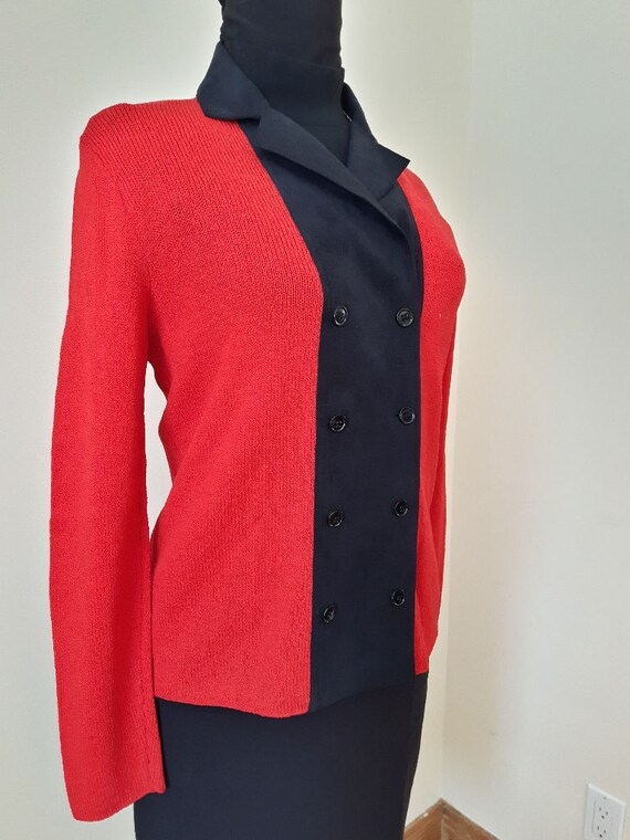 3f2d6a77e56fc Sweaters for Women Red and Black Sweater Vintage Sweater