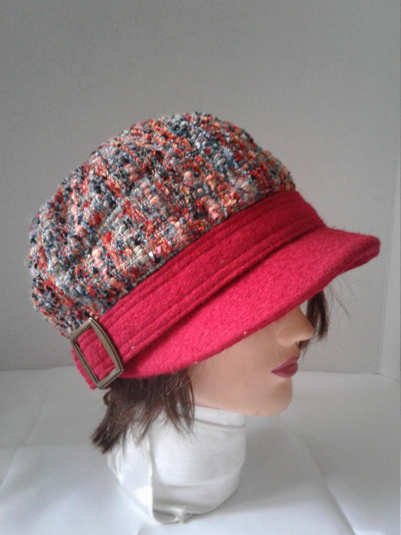 7f7925bc8 Vintage Multicoloured Hat, Flat Cap Women, Beret Hat, Red Cap, Men Women  Hat, Womens Winter Hat, Slouchy Hats,Teen Girl Hat,Hat With Buckles