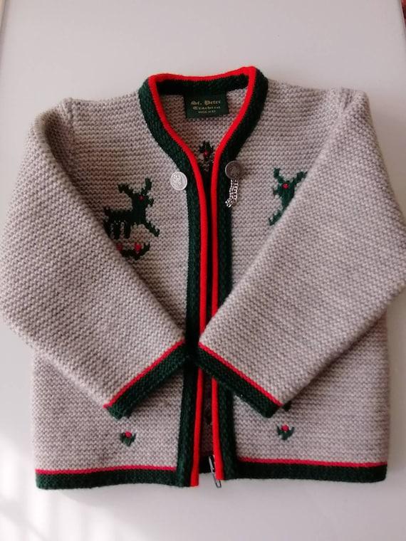 St. Peter Trachten Wool Children's Cardigan Sweate