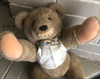 Vintage Horror Human Teeth Teddy Bear