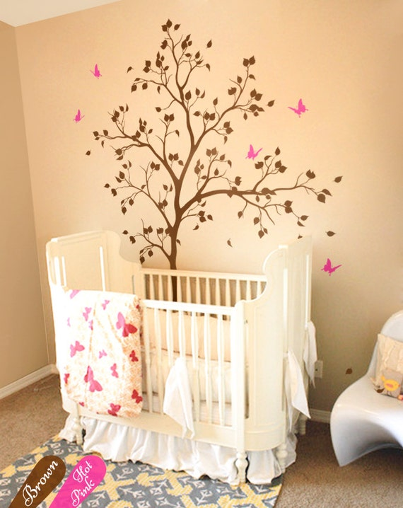 nursery tree wall decals baby room wall decorations unisex   etsy