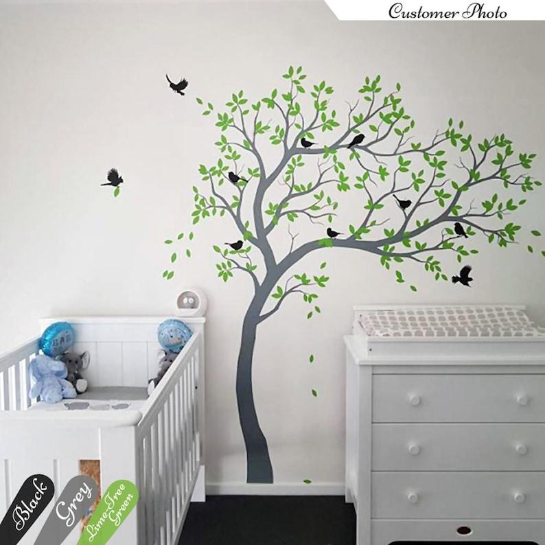 . Large Tree Wall Decals Nursery Tree Wall Sticker Kids Room Wall Art Decor  Wall mural 032R