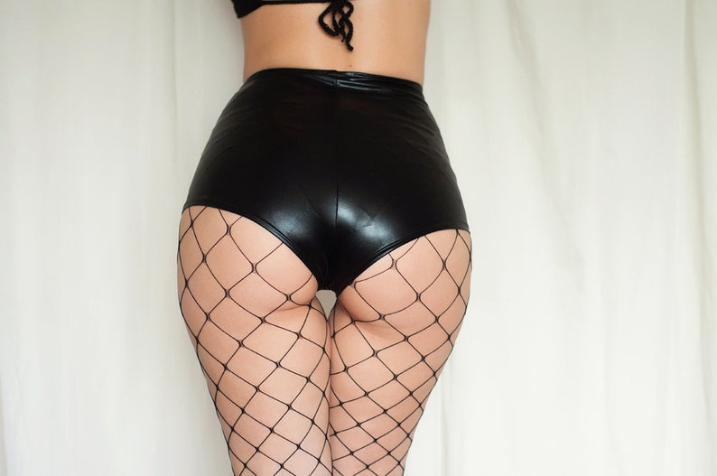 8f7901b1ba6 High Waist Cheeky Shorts. Metallic shine shorts. Zatanna