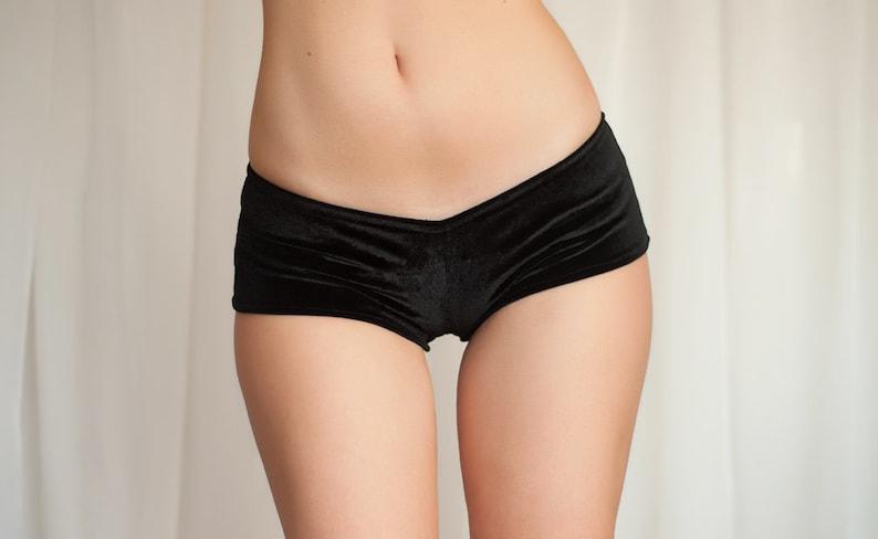 bff7e6210 Crotchless panties. Velvet open crotch hot pants. Cheeky
