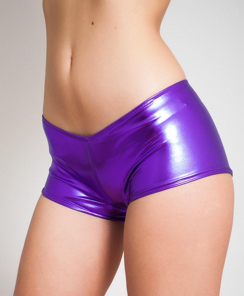 Womens girls sexy neon lycra shorts in hot