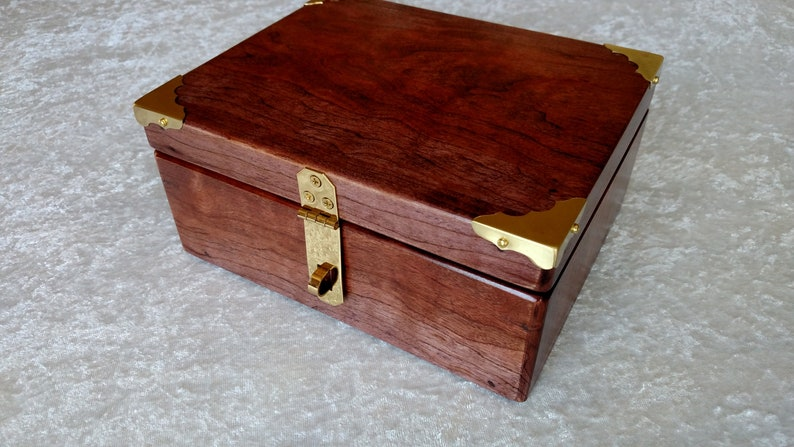 Keepsake Box Stash Box Jewelry Box Wedding Keepsake Box Cherry
