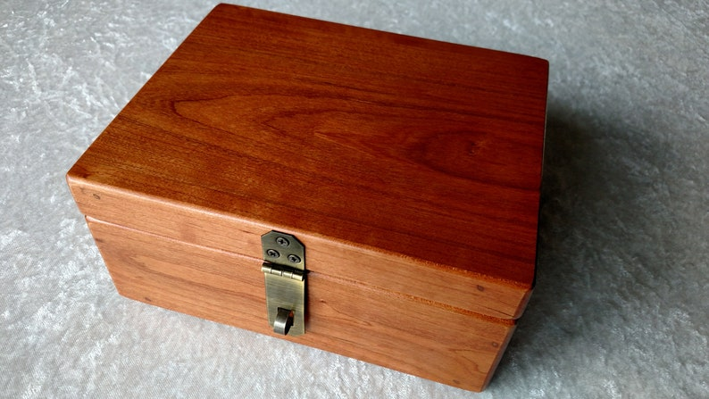 Stash Box Wood Box Baby Treasure Box Wedding Keepsake Box Pipe Box Cherry