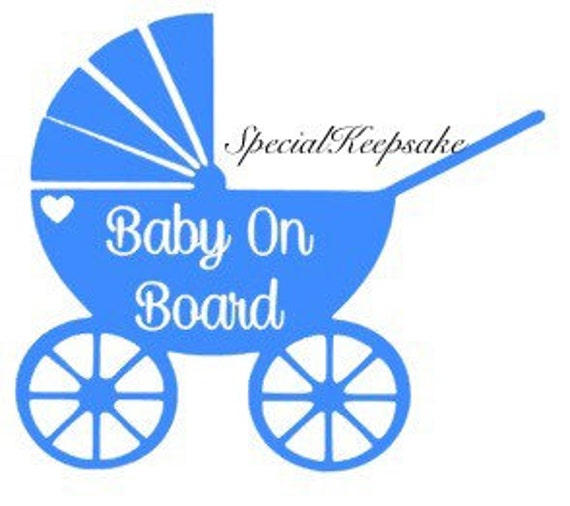 Personalised Baby On Board Car Sign ~Grandson Star shape Blue Baby in Sunnies