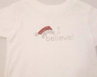 I Believe Toddler Rhinestone T-Shirt