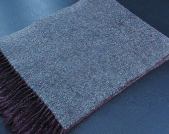 """Oliver Scarf Plain Pattern Reversible Wool Scarf 50"""" X 10"""""""