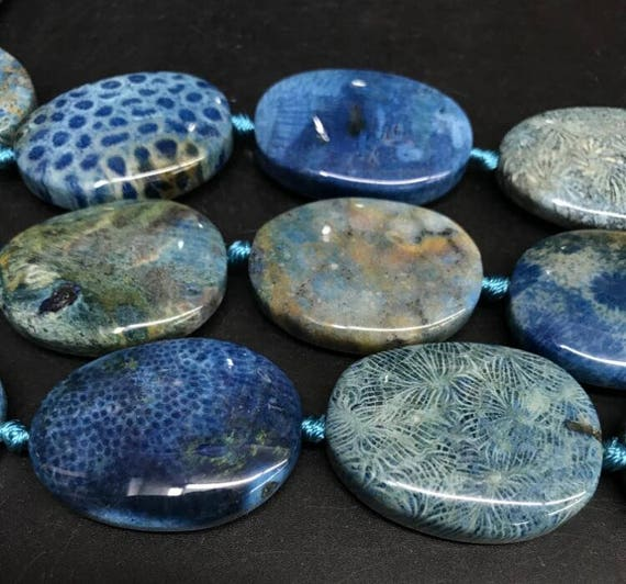 """12X8MM CHALCEDONY BLUE AGATE GEMSTONE OVAL LOOSE BEADS 15.5/"""""""