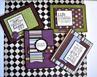 Happiness Notecards - Set of 4