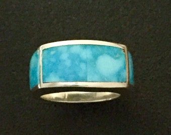 Studio GL Contemporary Birds Eye Kingman Turquoise & Sterling Silver Ring Size 7