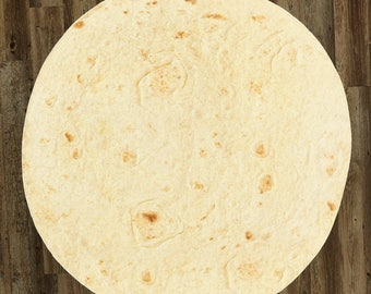 "Tortilla Blanket Burrito 60/"" Blanket  Corn and Flour Tortilla 60/"" Throw Gift"