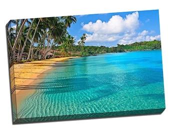"Paradise Beach 24"" x 36"" x 1.5"" Canvas Gallery Wrap Photo Print - CLEARANCE"