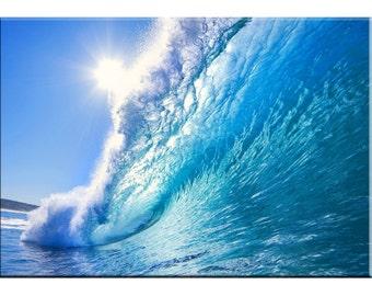 """Seascape Canvas Design - """"Ocean Wave"""" -  Print 30"""" x 20"""" x 1.5"""""""