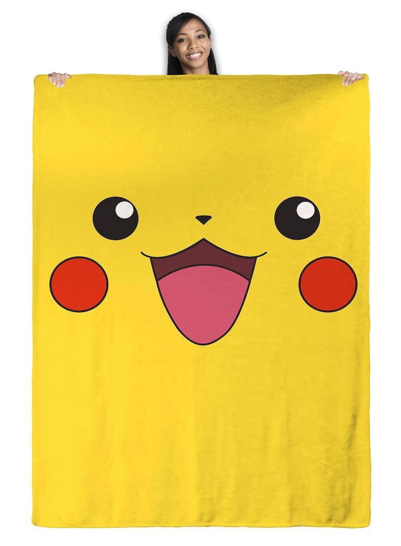 c1267f35 Pikachu Pokemon Throw Blanket | Etsy