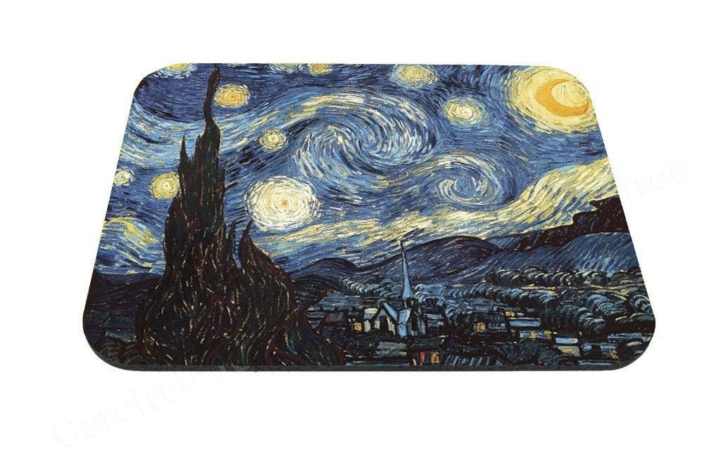 starry night design van gogh anti slip mouse pad