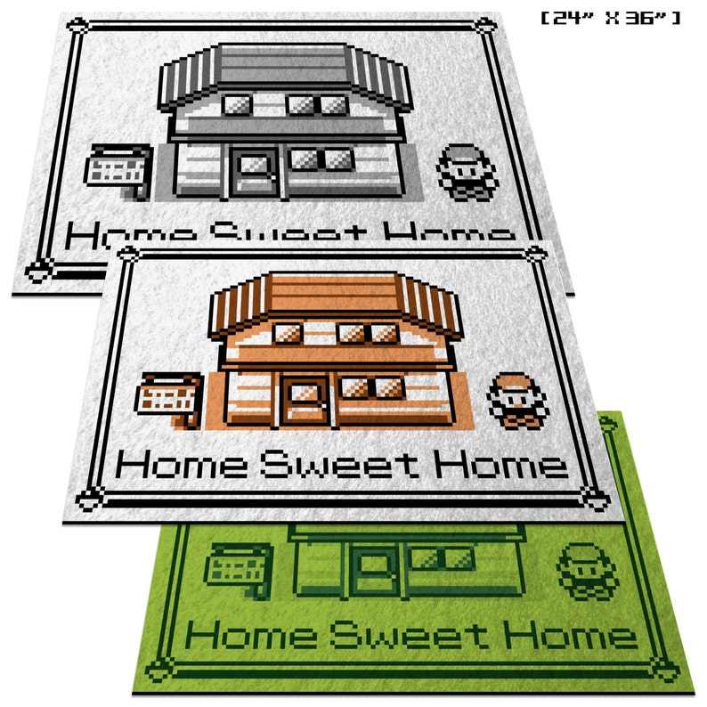 c29a2771 Pokemon Home Sweet Home 24 x 36 | Etsy