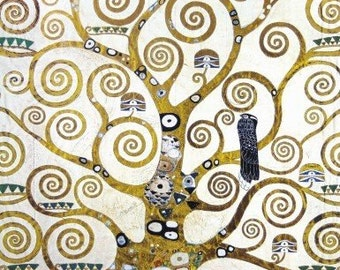 Gustav Klimt Stretched Canvas Print - The Tree Of Life (Detail) (20 x 16 inches)